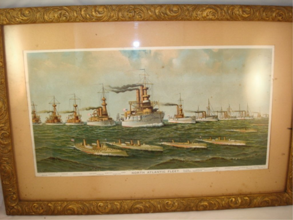 Framed Litho North Atlantic Fleet #8022