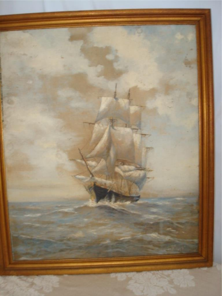Ship Painting by Footte 1937