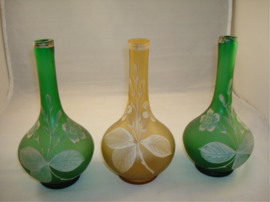 3 Large Decorative Barber Bottles