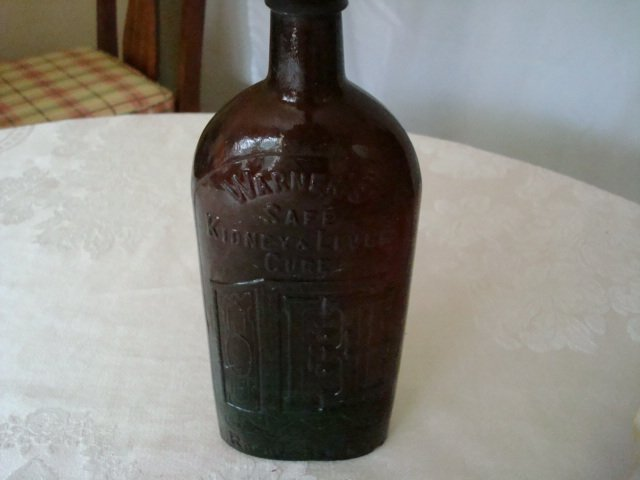 2 Warner Safe Kidney & Liver Cure Bottles
