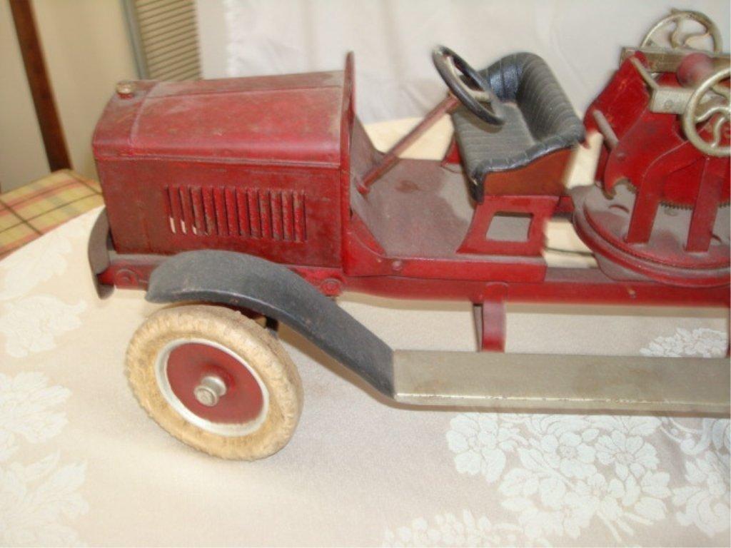 Large Kingsbury Hook & Ladder Fire Truck w BOX - 3