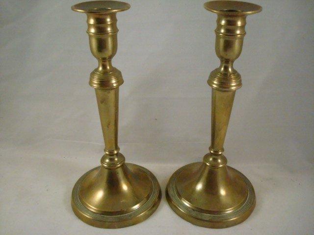 Set of 2 Brass Push-Up Candlesticks