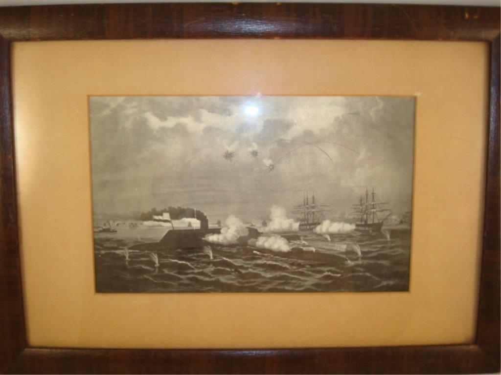 Framed Print Civil War Iron Clad