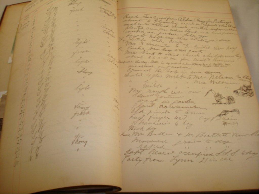 Light Keeper Log Book 1900-1908 Straitchmouth
