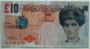 After Banksy . Di-Faced Tenner, 10 GBP Note, 2005.