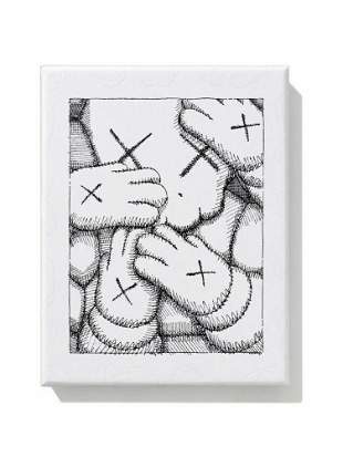 KAWS - URGE -WHAT PARTY - PLATE SET OF 4 X 1