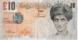 BANKSY (AFTER) - DI FACED TENNER, 10 GBP NOTE