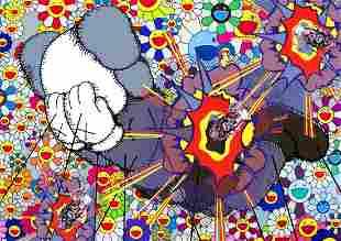 "DEATH NYC - "" K BOMB FLOWER 1"" - KAWS X MURAKAMI"