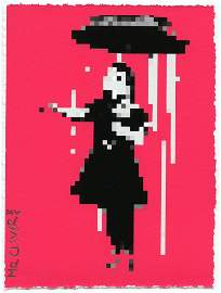 MR. CLEVER - ART SQUARE DROPS (BANKSY - NOLA GIRL)