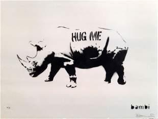 BAMBI - HUG ME RHINO - HAND SPRAYED AP