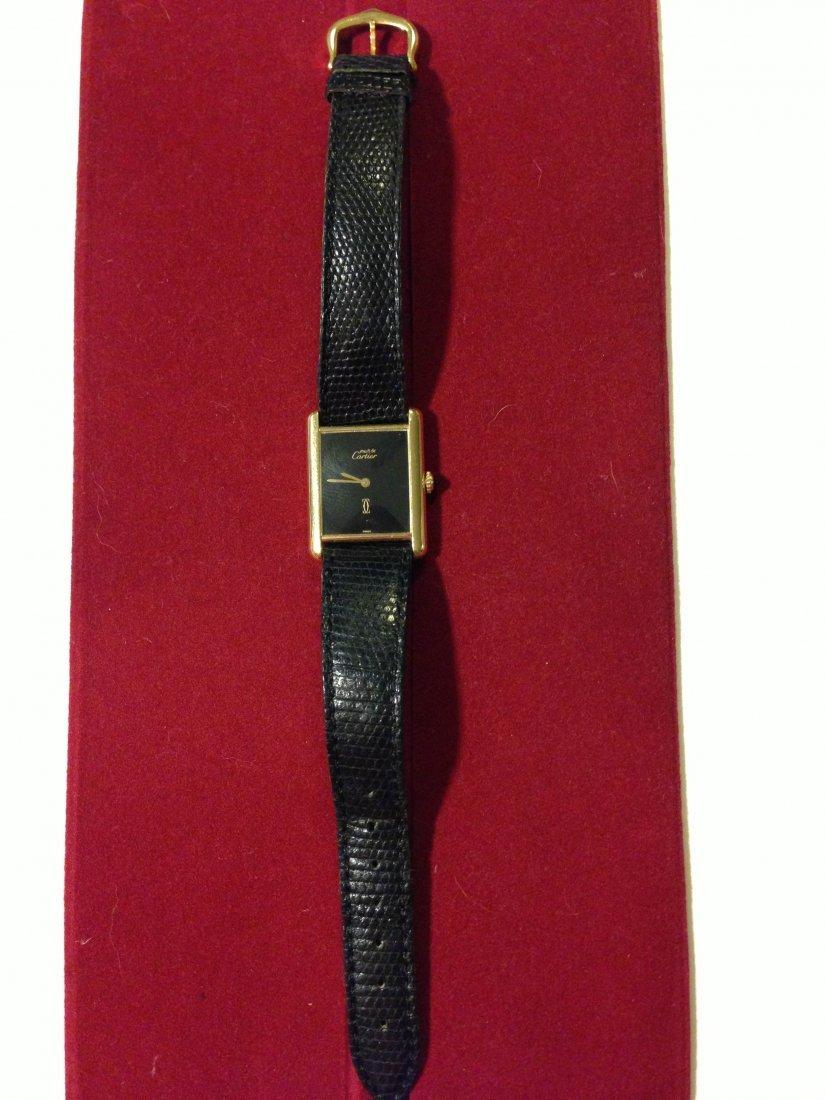 Cartier tank Vermeil Gold Pl. Sterling Silver