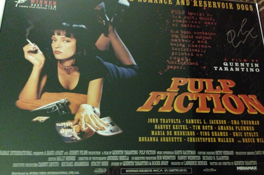 Pulp Fiction Quentin Tarantino Autographed Poster