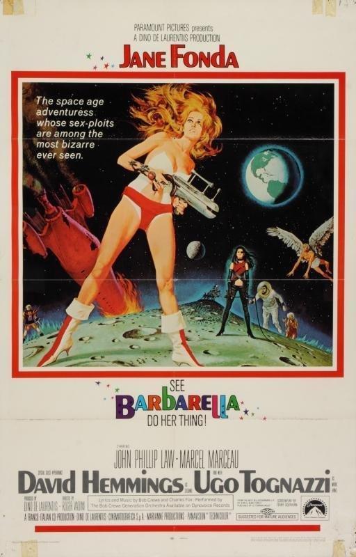 Jane Fonda in Barbarella Original One Sheet Poster!!!