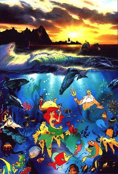 """""""Under the Sea"""" Disney ART SIGNED by Lassen- w/COA"""