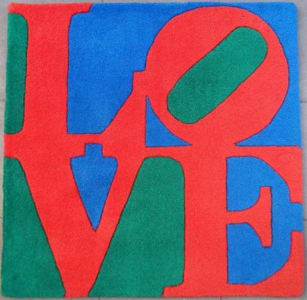 "INDIANA Robert : ""Classic LOVE"" - orig. 30x30"" SIGNED W"