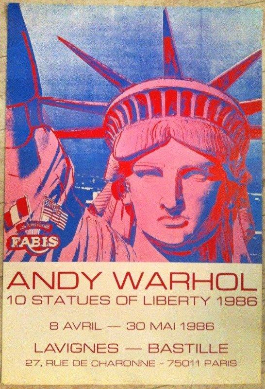 "WARHOL Andy : ""10 Statues of Liberty"" - ORIGINAL VINTAG"