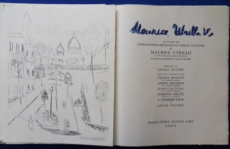 """UTRILLO Maurice : """"Maurice UTRILLO V"""" - 13 LITHOGRAPHS - 2"""