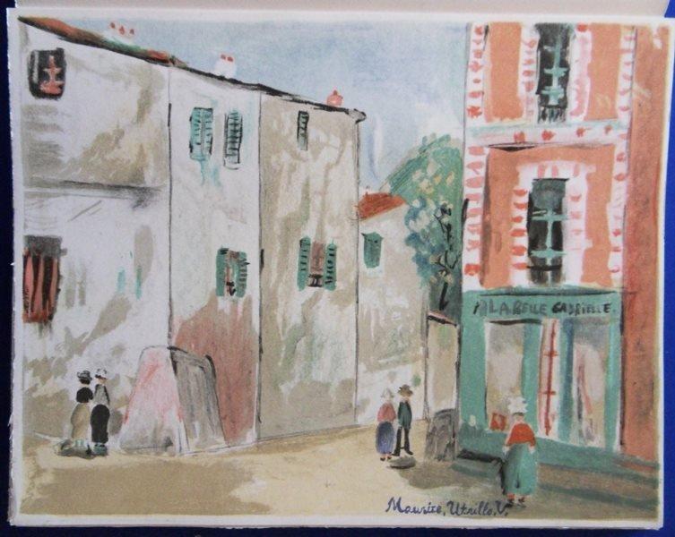 """UTRILLO Maurice : """"Maurice UTRILLO V"""" - 13 LITHOGRAPHS - 5"""