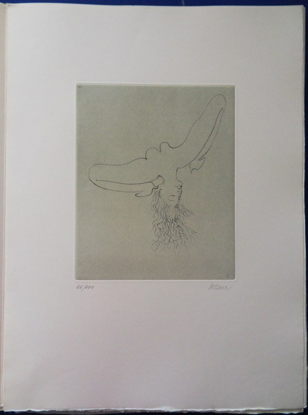 "BELLMER Hans : ORIGINAL HANDSIGNED ETCHING ""De qui"