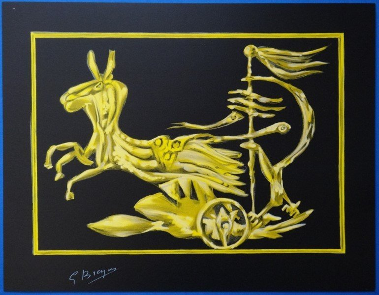 """BRAQUE Georges : Signed lithograph """"Icarus"""""""