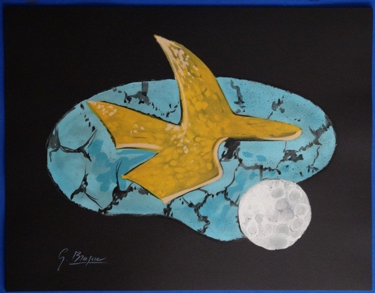 """BRAQUE Georges : Signed lithograph """"The bird and the"""