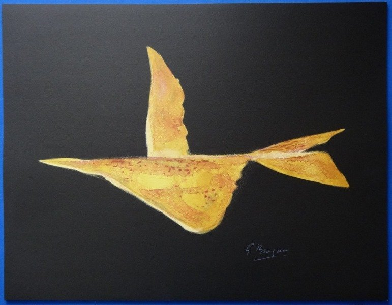 "BRAQUE Georges : Signed lithograph ""The flight"""