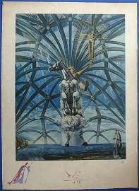 DALI Salvador : St Jacques - Watercolor & lithograph