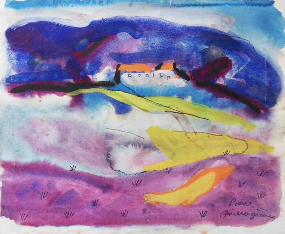 AMBROGIANI Pierre : House in Provence - Handsigned