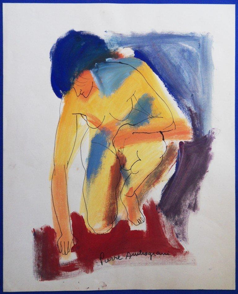 AMBROGIANI Pierre : Sitting model - Handsigned