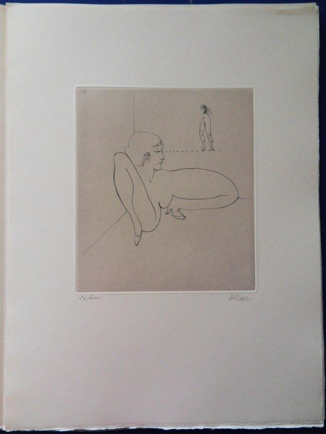 """BELLMER Hans : ORIGINAL HANDSIGNED ETCHING """"Cahier"""