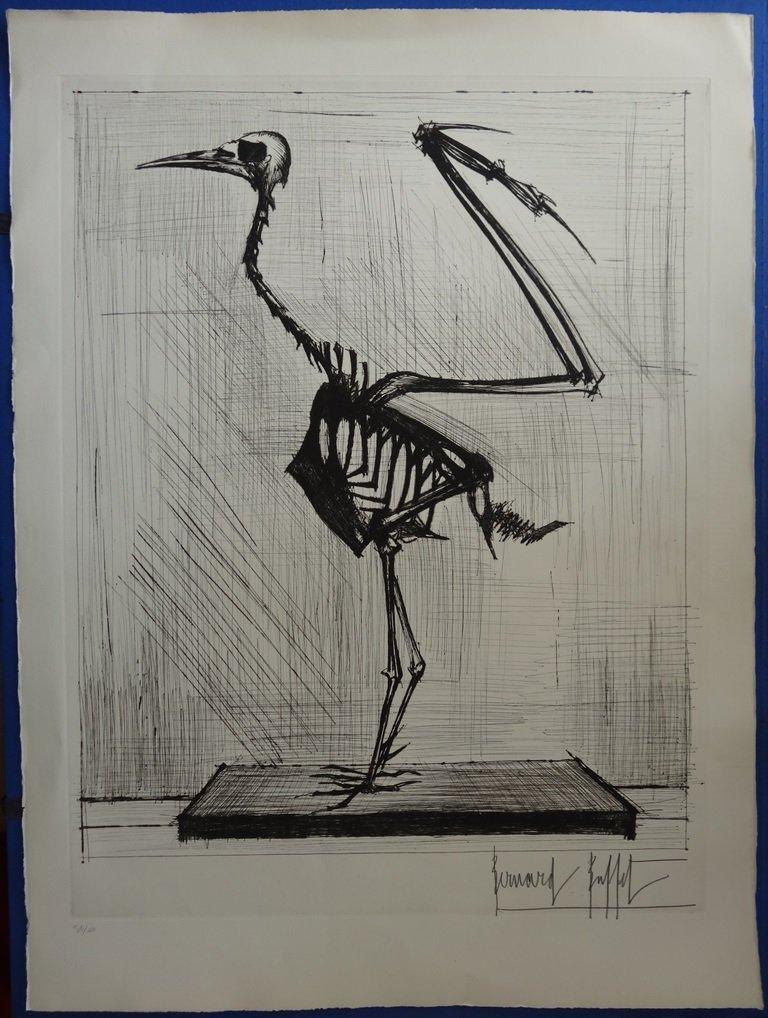 BUFFET Bernard : Bird Skeleton - HANDSIGNED ETCHING