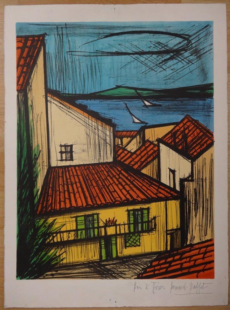 """BUFFET Bernard """"St Tropez"""" - LITHOGRAPH"""