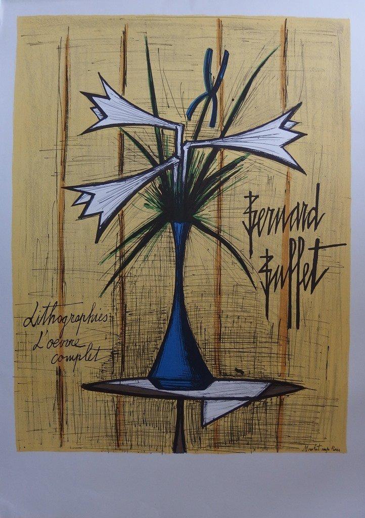 BUFFET Bernard : Lilies & Iris - LITHOGRAPH