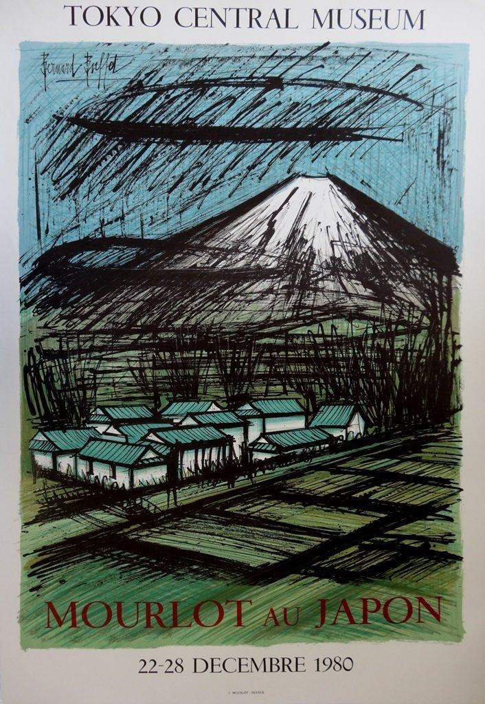 BUFFET Bernard : Mont Fuji - LITHOGRAPH
