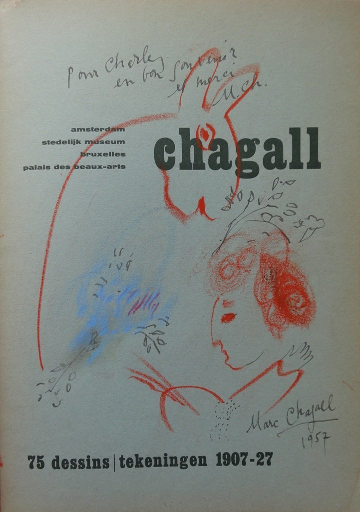 CHAGALL Marc - Drawing with dedication # HANSIGNED