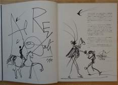 "DALI Salvador : DRAWING and dedication ""Don Quichotte"""