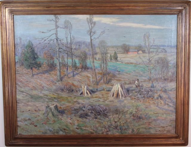 """Young Morris Charles, American, """"Felling Trees"""""""