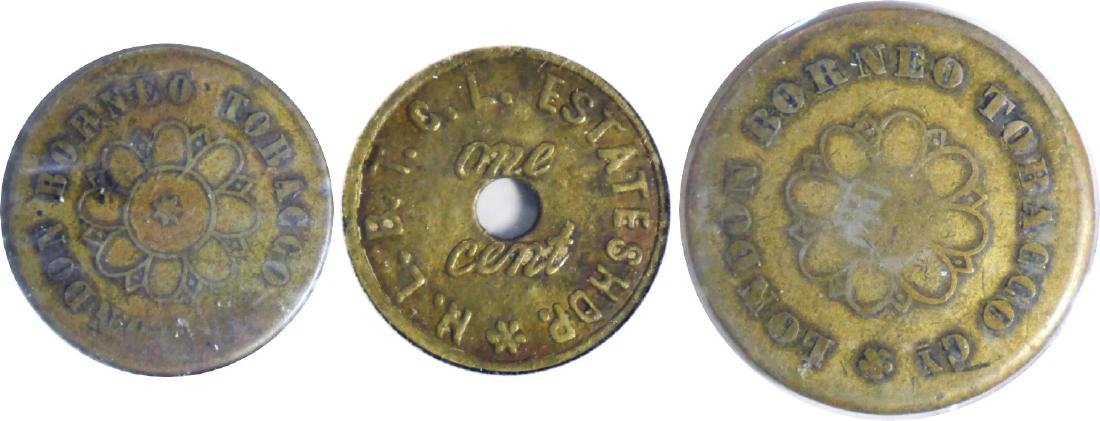British North Borneo, ND Estates Tokens, One Cent, GVF