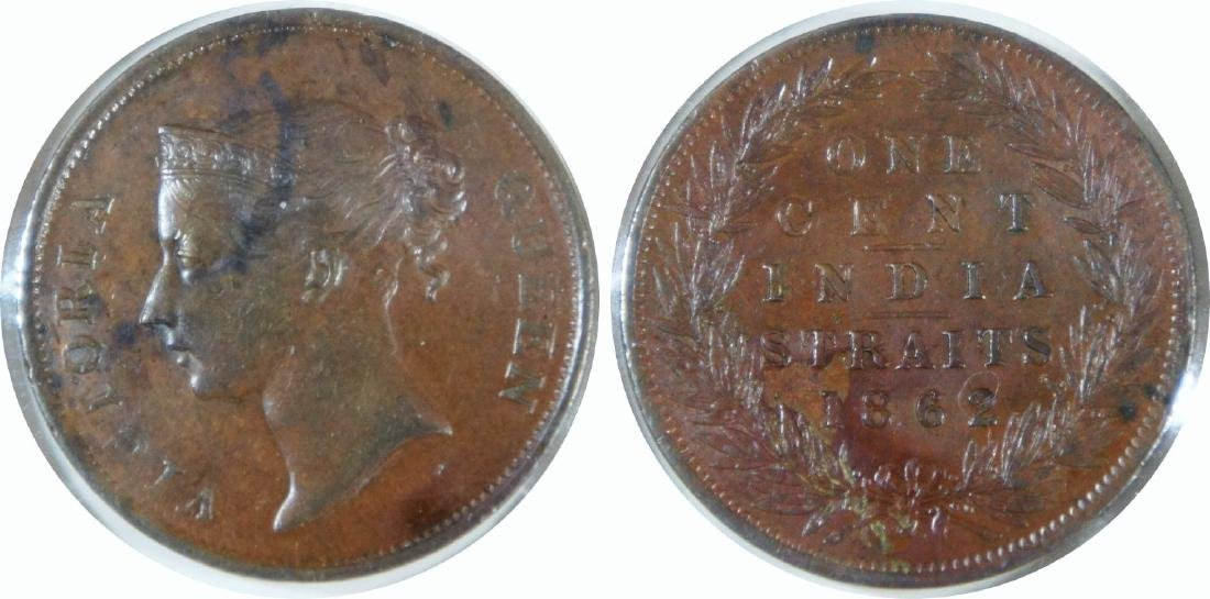 Straits Settlements, India Straits, 1862, Copper Cent,