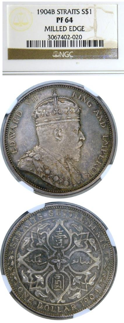 Straits Settlements, 1904B, 1 Silver Dollar, Matte