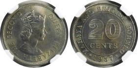 Malaya, 1957kn, 20c. Ngc Ms 65