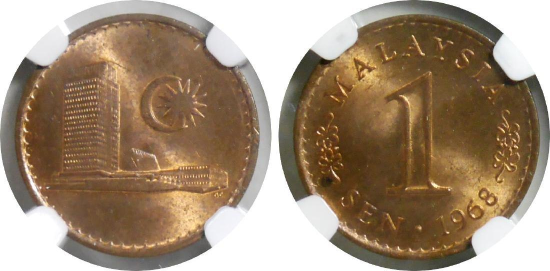 Malaysia, 1967; 1968 and 1970, Copper Sen, 3pcs.