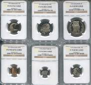SG, 1974, 1c-$1 Proof set of 6. All graded by NGC