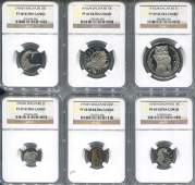 SG, 1976, 1c-$1 Proof set of 6. All graded by NGC