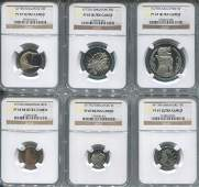 SG, 1977, 1c-$1 Proof set of 6. All graded by NGC