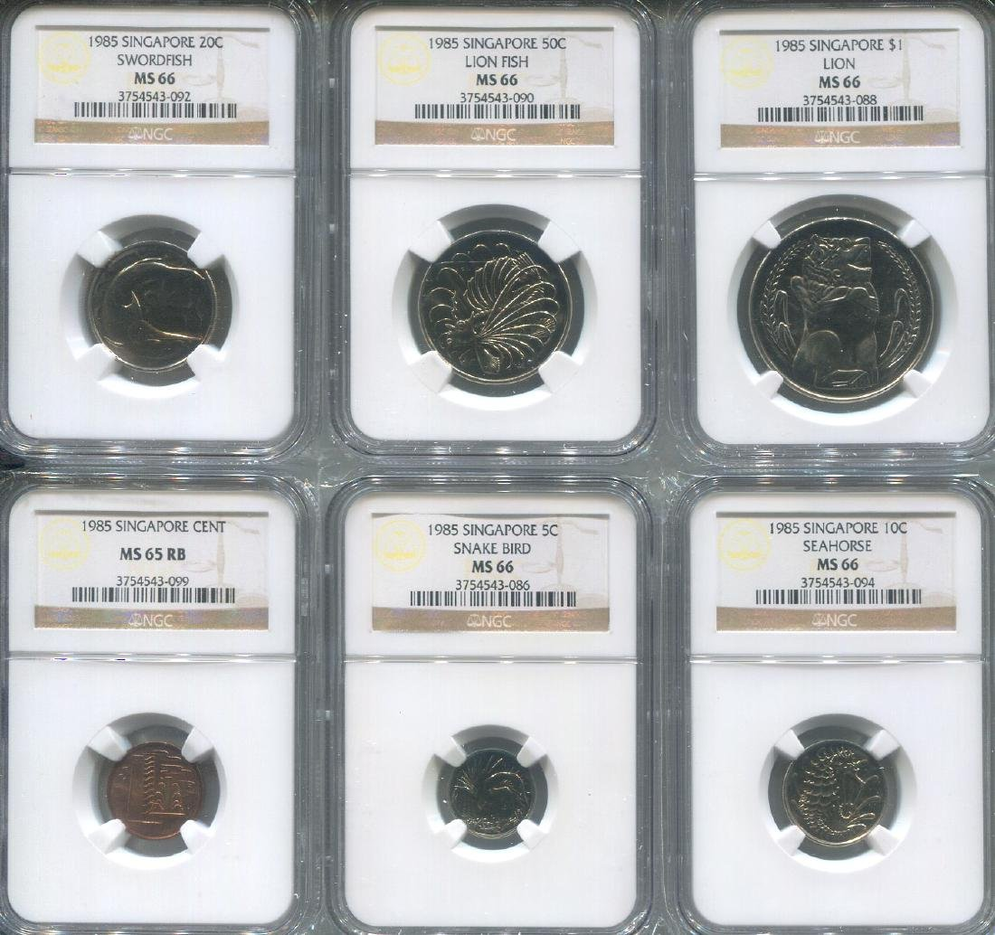 SG, 1985, 1c-$1, set of 6. All graded by NGC