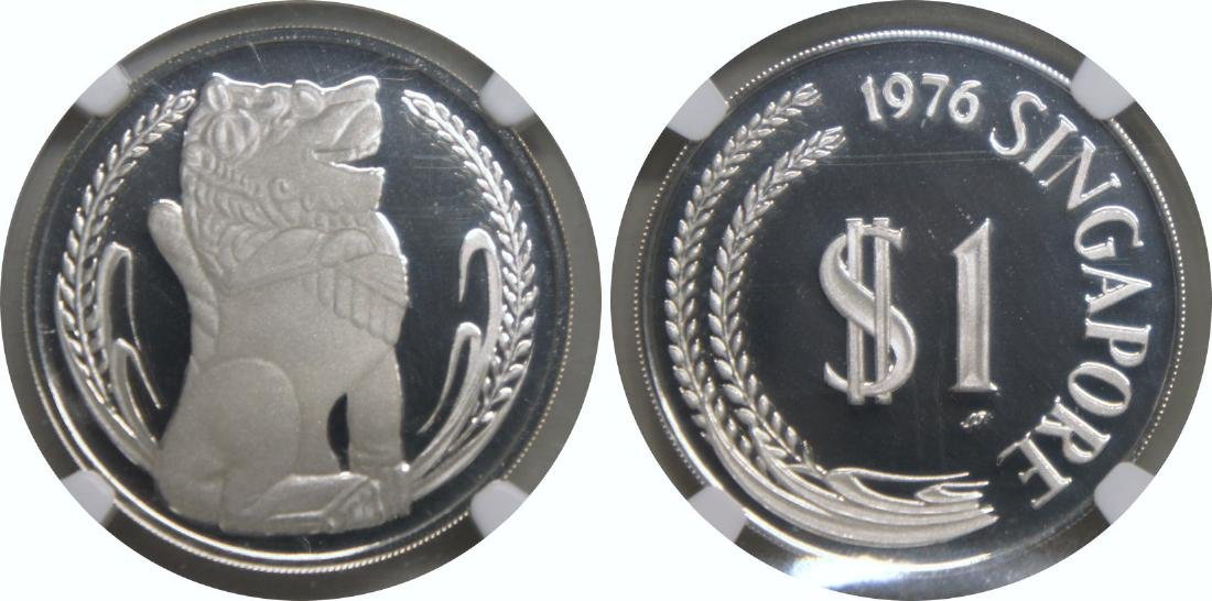 SG, 1976SM, Silver Proof $1. NGC PF 70 Ultra Cameo
