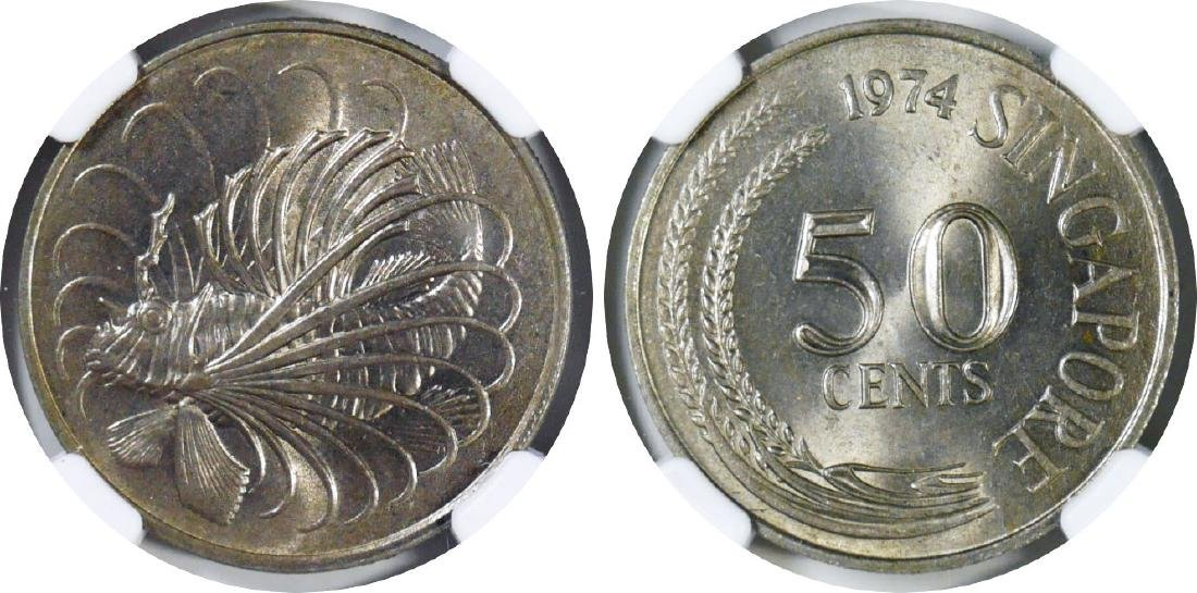 SG, 1974, C-N 50c, mint error. 2pcs