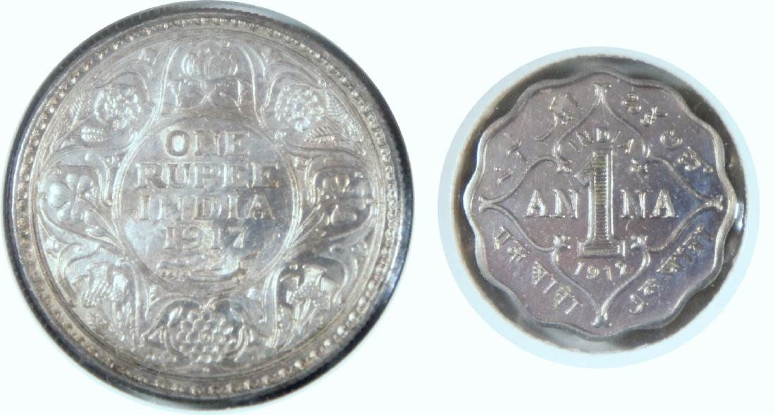 British India, Coins, 2pcs