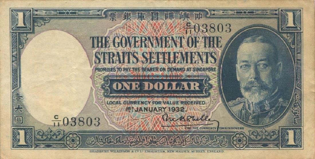 Straits Settlements, 1932, $1, GVF